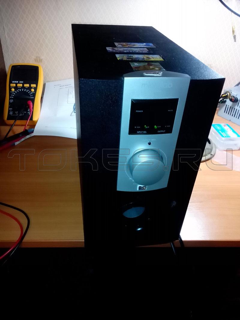 Колонки Sven MS-2000 чёрный акустическая система 2.1 мощность(RMS):18Вт+2х11 Вт FM-тюнер USB/SD дисплей ПДУ
